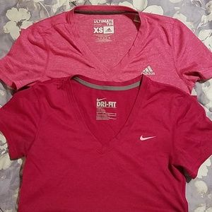 Nike Adidas lot of two tops